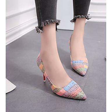 Tacones Zapatos Puntiagudo para Iris Invierno Otoño Azul 06294343 Mujer Confort Stiletto PU Dedo Claro Tacón Arco 1XBwBqCnT