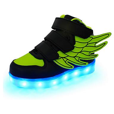 baratos LED Sapatos-Para Meninos Couro Tênis Little Kids (4-7 anos) / Big Kids (7 anos +) Conforto / Inovador / Tênis com LED Velcro / LED Vermelho / Verde / Azul Primavera / Outono / Borracha