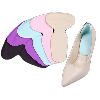 abordables Accessoires pour Chaussures-2pcs Vestimentaire Semelle Intérieures Gel Talon Toutes les Saisons Femme Beige Violet Bleu Pâle Rose Clair