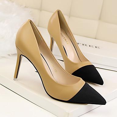 PU Color Camello Mujer Pump Tacones 06302693 Negro Básico Primavera Zapatos Otoño Rojo 5BzfT