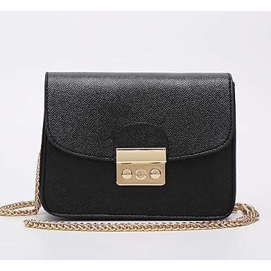 Women's Bags Cowhide Tote Buttons / Zipper Black / Orange / Red