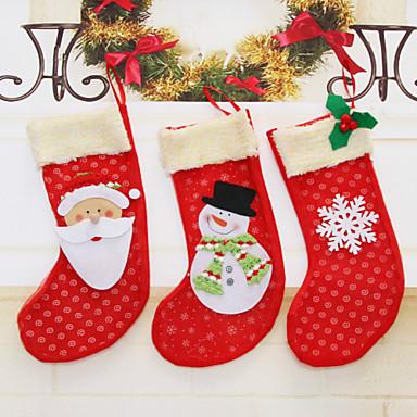 Holiday Decorations Animals / Snowmen / Santa Christmas Stockings Holiday 1 / 2 / 3 1pc / New Year's