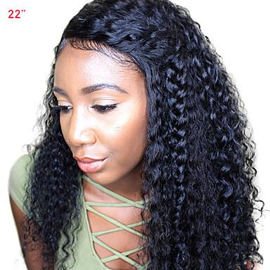 CARA Emberi haj 360 Frontális Paróka Mély hullám Paróka Tincselve 180% Haj denzitás Női Közepes
