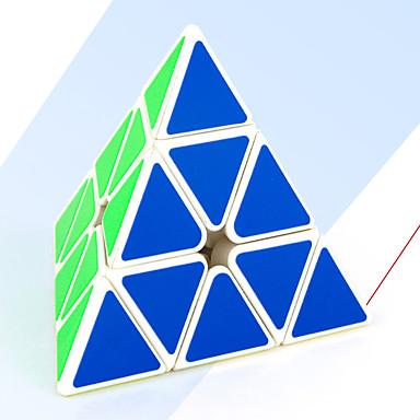 Rubiks kube MoYu Pyramid Glatt Hastighetskube Magiske kuber / Stresslindrende leker / Pedagogisk leke Kubisk Puslespill Glatt klistremerke Gave Unisex