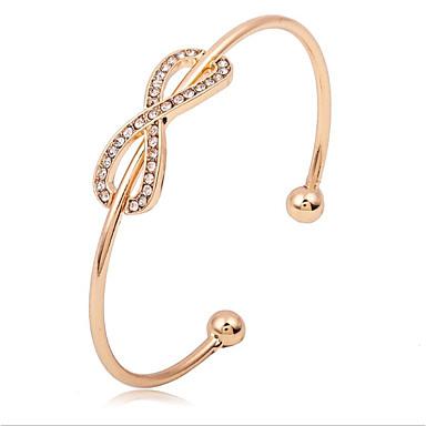 Women's Cuff Bracelet - Zircon Gold, Silver / Wedding