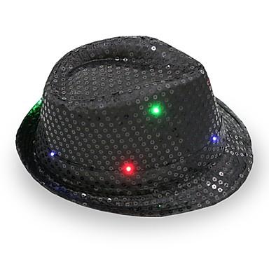 fedora led villogó flitterek jazz sapka hip hop kalap párt születésnapi  kalapok sapka esküvő halloween 6296328 2019 –  10.99 0855e0a353