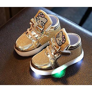 baratos Sapatos de Criança-Para Meninas Couro Ecológico Tênis Little Kids (4-7 anos) Conforto Prata / Fúcsia / Rosa claro Outono / Inverno
