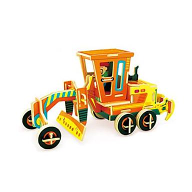 voordelige 3D-puzzels-RUOTAI 3D-puzzels Voertuigen Graafmachine Puinen 1 pcs Motorgrader Kinderen Volwassenen Speeltjes Geschenk