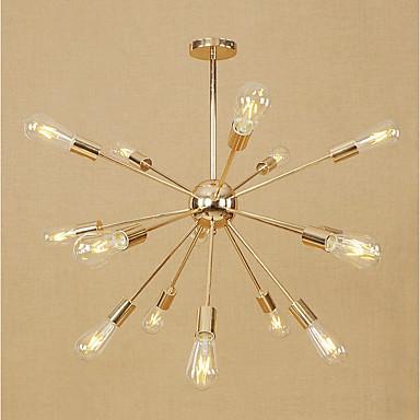 Sputnik Chandelier Ambient Light Electroplated Metal Mini Style, Adjustable, Designers 110-120V / 220-240V Bulb Not Included / E26 / E27
