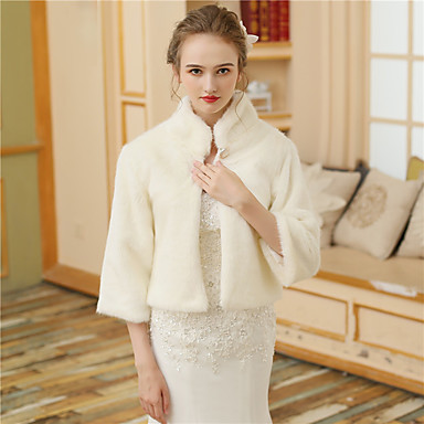 Faux Fur Wedding / Party / Evening Women's Wrap With Buttons / Fur Shrugs