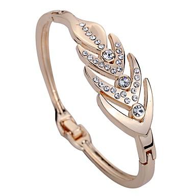 halpa Muotirannekorut-Naisten Synteettinen timantti Rannekkeet Geometrinen naiset Yksilöllinen Muoti Tekojalokivi Rannekorun korut Ruusukulta Käyttötarkoitus Päivittäin Näyttämö
