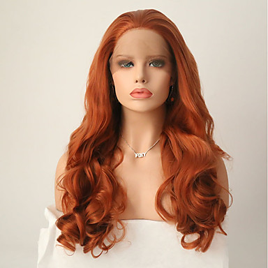 Synthetic Lace Front Wig Women's Body Wave Brown Synthetic Hair Natural Hairline Brown Wig Long Lace Front Light Brown