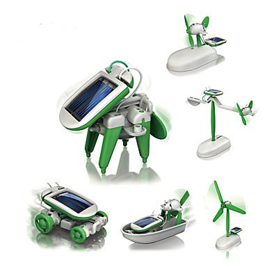 billige Droner og radiostyrte enheter-6 IN 1 Robot Soldrevne leker Luftkraft Vindmølle Skip Soldrevet GDS Utdanning Barne Leketøy Gave 1 pcs