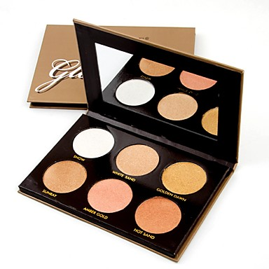 6 Colors Makeup Set Powders Pressed powder Dry / Shimmer / Mineral Waterproof / Whitening / Long Lasting Face Alcohol Free / Cruelty Free / Formaldehyde Free Makeup Cosmetic
