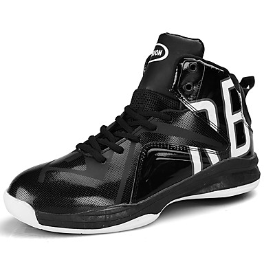 Men's Faux Leather Spring / Fall Comfort Athletic Shoes Basketball Shoes Black / Black / White / Black / Red