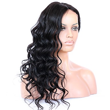 Virgin Human Hair Lace Front Wig Brazilian Hair Wavy Wig 130% / 150% / 180% With Baby Hair / Natural Hairline / For Black Women Women's Short / Medium Length / Long Human Hair Lace Wig
