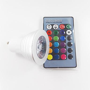 300 lm GU10 LED-kohdevalaisimet MR16 1 ledit Teho-LED Himmennettävissä Koristeltu Kauko-ohjattava RGB AC 100-240V