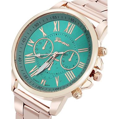 cheap Women's Watches-Women's Luxury Watches Wrist Watch Quartz Stainless Steel Silver Water Resistant / Waterproof Analog Ladies Charm - Red Green Pink