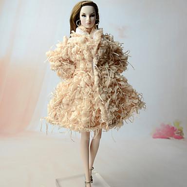 voordelige Poppenaccessoires-Doll Top Boleros Voor Barbie Nieuwigheid Vintage Synthetisch Garen Linnen / Katoen Synthetische Textiel Vezels Jas Voor voor meisjes Speelgoedpop