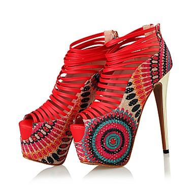 Rouge Chaussures Bout Chaussures Talons microfibre Femme ouvert Eté de 06273734 à Fermeture Talon Nouveauté PU Aiguille synthétique Automne awnwxq8OF