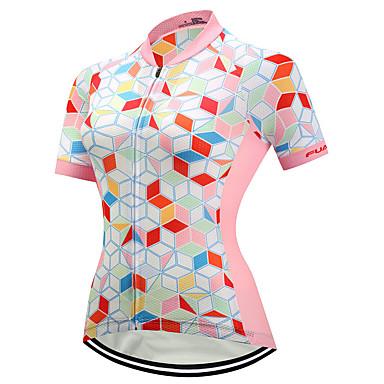 6dbc5c00d45d FUALRNY® Γυναικεία Κοντομάνικο Φανέλα ποδηλασίας - Ροζ Ποδήλατο Αθλητική  μπλούζα Γρήγορο Στέγνωμα Αντανακλαστικές Λωρίδες Αθλητισμός