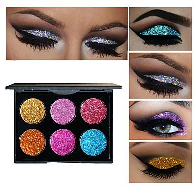 6 Colors Eyeshadow Palette Hypoallergenic Quick Dry Daily Makeup / Halloween Makeup / Party Makeup Daily Makeup Cosmetic