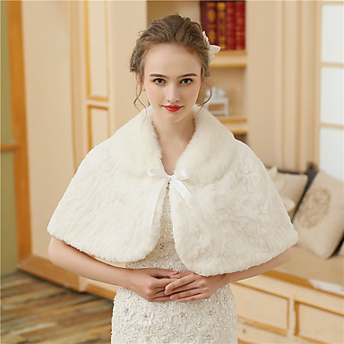 Faux Fur Wedding / Party / Evening Women's Wrap With Printing / Fur Capelets