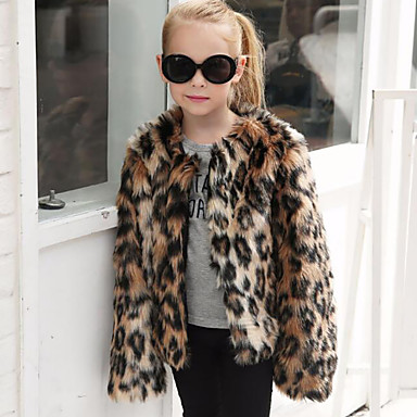 Faux Fur Wedding / Party / Evening Kids' Wraps With Leopard Coats / Jackets