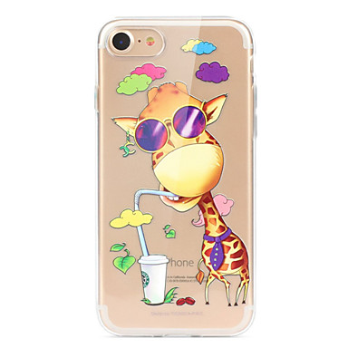 Case For Apple iPhone X iPhone 8 iPhone 8 Plus Ultra-thin Transparent Pattern Back Cover Cartoon Animal Soft TPU for iPhone X iPhone 8
