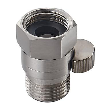 Shower Pressue Valve Solid Brass Water Control Valve Shut Off Valve for Bidet Sprayer or Shower Head Brushed Nickel