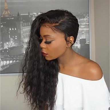 povoljno Perike i ekstenzije-Ljudska kosa Perika pune čipke bez ljepila Full Lace Perika stil Prirodne kovrče Perika 150% Gustoća kose s dječjom kosom Prirodna linija za kosu Žene Dug Perike s ljudskom kosom ELVA HAIR
