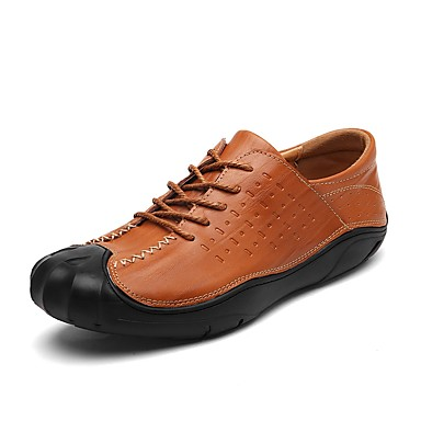 Men's Leatherette / Cowhide Fall / Winter Comfort Sneakers Black / Brown