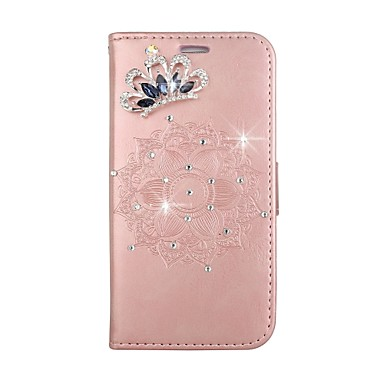 Case For Huawei P9 Lite Huawei Huawei P8 Lite Card Holder Wallet Rhinestone with Stand Flip Pattern Embossed DIY Full Body Cases Mandala