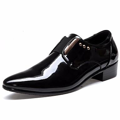 בגדי ריקוד גברים נעליים PU אביב / סתיו נוחות נעליים ללא שרוכים שחור / חום / לבש נעליים