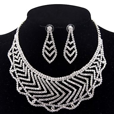 Damskie Biżuteria Ustaw - Posrebrzane Prosty, Moda Zawierać Naszyjniki Srebrny Na Ślub Impreza