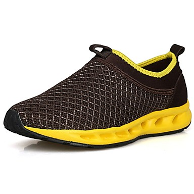 Men's Comfort Shoes Tulle / Fabric Spring / Fall Athletic Shoes Walking Shoes Brown / Black / Blue / Black / Yellow