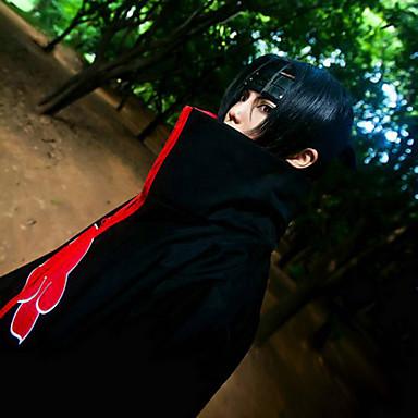 Naruto Itachi Uchiha Cosplay-Peruukit Miesten 32 inch Heat Resistant Fiber Musta Anime