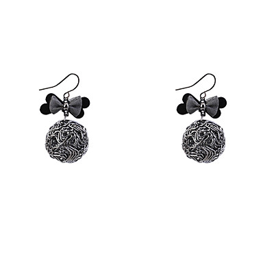 Women's Drop Earrings - Bowknot Vintage, Fashion Black For Casual