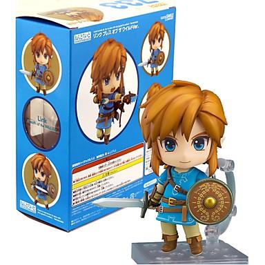 Anime Akciófigurák Ihlette Zelda legendája Láncszem PVC 10 cm CM Modell játékok Doll Toy
