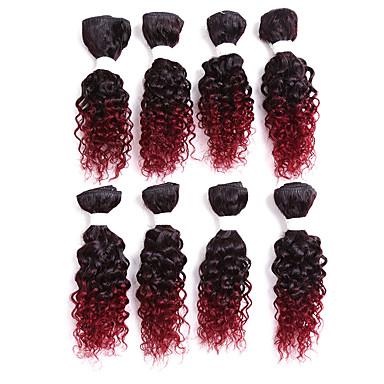 baratos Extensões de Cabelo Natural-Cabelo Brasileiro Encaracolado Clássico Cabelo Humano Âmbar Tramas de cabelo humano Extensões de cabelo humano