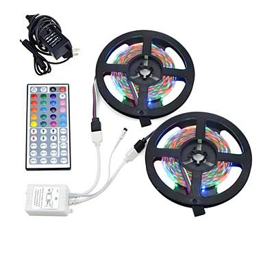 זול תאורה דקורטיבית-10m light sets 600 leds 12v 6a מתאם 44-key שלט רחוק rgb cuttable waterproof linkable עצמית דבק דקורטיביים 12v 1set