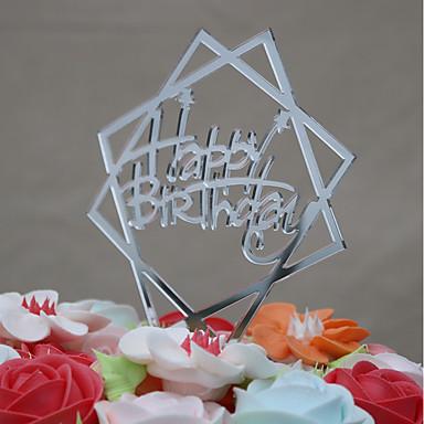 Figurki na tort Urodziny Akrylowy / euroamerykańskiej Plastikowy Urodziny z 1 pcs OPP