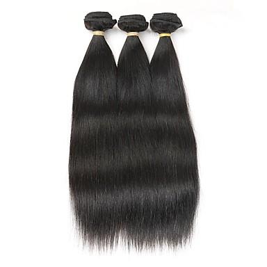 3 zestawy Włosy brazylijskie Prosto Włosy remy Człowieka splotów włosów Ludzkie włosy wyplata Ludzkich włosów rozszerzeniach / Prosta