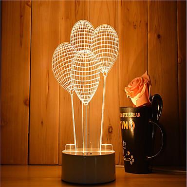 1 Satz von 3D-Stimmung Nachtlicht Handgefühl dimmbare USB angetriebene Geschenk Lampe Ballon
