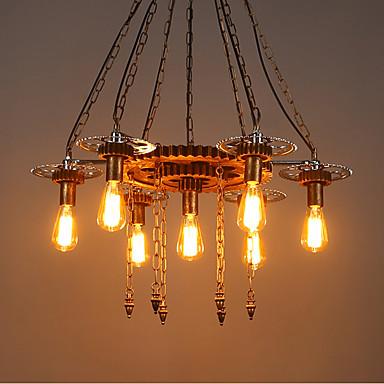7 świateł Przemysłowy Lampy widzące Downlight Malowane wykończenia Drewno / Bambus Szkło Regulowany 110-120V / 220-240V Nie zawiera żarówek / E26 / E27