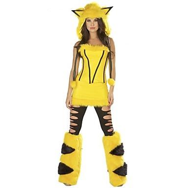 Kostiumy Św. Mikołaja Stroje Damskie Boże Narodzenie Festiwal/Święto Kostiumy na Halloween Yellow Rysunek
