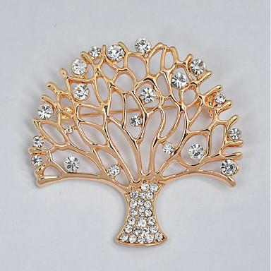 Damen Broschen - Strass Baum des Lebens Süß, Elegant Brosche Gold Für Alltag / Formal