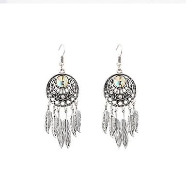 Damskie Kolczyki wiszące , Klasyczny Modny Stop Leaf Shape Biżuteria Silver Prezent Codzienny Biżuteria kostiumowa