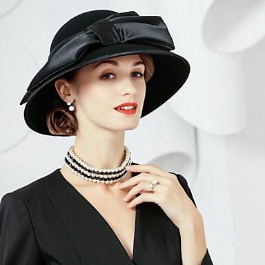 Wolle Seide Hüte 1 Kopfschmuck Hochzeit elegante weibliche Stil
