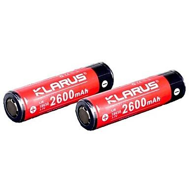 KLARUS 18650 2600mAh Batterie Tragbar / Professionell / Einfach zu tragen für Li-Ionen / 18650